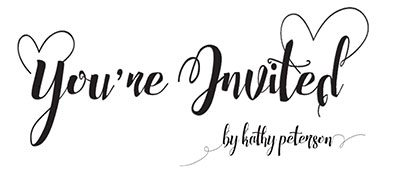 Your Invited By Kathy Peterson Logo